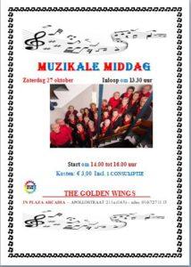 Muzikale Middag Zaterdag 27 oktober @ Plaza Arcadia | Rotterdam | Zuid-Holland | Nederland