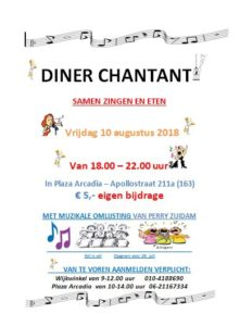 Diner Chantant @ Plaza Arcadia | Rotterdam | Zuid-Holland | Nederland