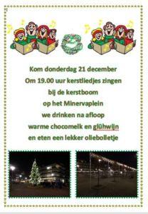 Kerstliedjes bij de Kerstboom @ Minervaplein 96
