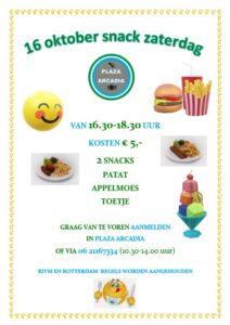 Snack zaterdag @ Plaza Arcadia